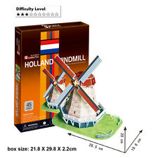 HOLLAND WINDMILL 3D MODEL JIGSAW PUZZLES DIY EDUCATIONAL PUZZLES