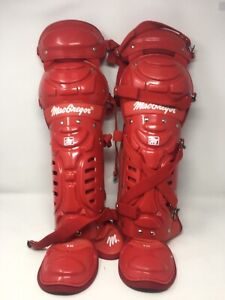 MacGregor Red Catchers Leg Guards B66 Adult Baseball/Softball