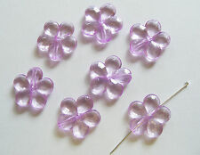 10 Acrylic Flower Beads - Light Purple - 20mm