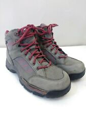 Danner Leather Lace Up Hiking Ankle Boots  Men's US 7 M Gray / Red