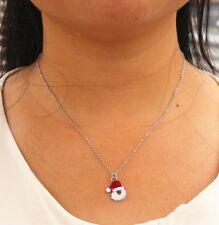 Silver Father Christmas SANTA CLAUS Necklace Chain Pendant Alloy Festive XMAS UK