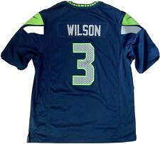 RUSSELL WILSON Autographed Signed Official NFL SEAHAWKS Nike Jersey #3 COA