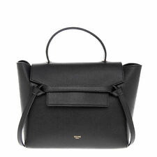 Celine 189153ZVA.38NO Women's Micro Belt Bag Handbag in Grained Calfskin - Black