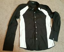TheLees Mens Casual Slim Fit 2 Tone Long Sleeve Stretchy Shirts, Sz. XL