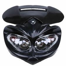 Black Motorcycle Headlight Fairing Head Lamp Universal