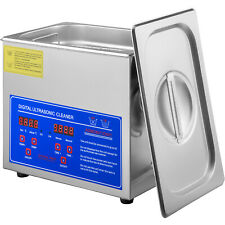 Vevor Stainless Steel Industry Ultrasonic Cleaner 3l Heated Heater Withtimer