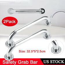 2X Stainless Steel Bathroom Shower Grab Tub Bar Safety Handle Towel Rail Support
