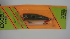 Old Stock EX-CEL Popper Top Water Fishing Lure SPL Green Frog