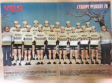 MANIFESTO CICLISMO SQUADRE PEUGEOT MICHELIN FIAT MIKO MERCIER RENAULT GITA 1979