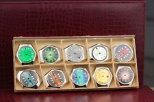 different dials - screwed backside - unused 10pcs watch case Nos swiss made with