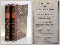 Gelpke Gründlichen Rechnen in Zahlen und Buchstaben 1821 rara Mathematik xz