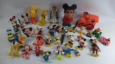 Huge Lot Of Disney Action Figures MICKEY MOUSE RUBBER TOYS PLASTIC DOLLS