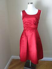 PRADA red silk dress size 40 US 4