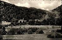 Schlageten Schwarzwald s/w Postkarte 1963 gelaufen Blick ins Albtal Panorama