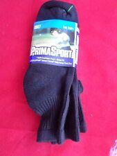 2 Pair Prima Sport Black Mens Golf Quarter Socks Comfort Toe Seam 10-13