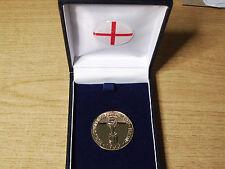 1966 angleterre coupe du monde willie médaille-c/w box & crest