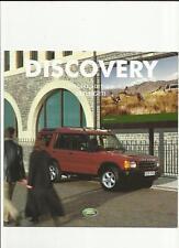 Land rover discovery serengeti 5 & 7 places édition spéciale sales brochure 2002