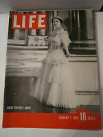 3 VINTAGE LIFE MAGAZINES: 1940, 1953, 1960: G.B. QUEEN, CROWNED QUEEN - TUB RH-2