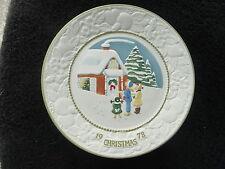 Vernon Metlox White Christmas Songs of Christmas 1978 Limited Christmas Plate