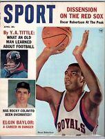 1964 April Sport Magazine Oscar Robertson Cincinnati Y.A. Tittle New York Giants