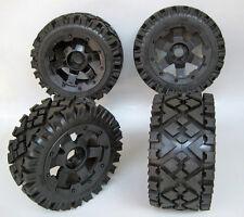 Baja Wheels & Tyres All Terrain Front & Rear fit HPI 5B King Motor Rovan PRC