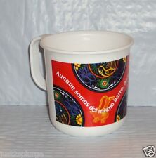 New TUPPERWARE Mug Coffee Cup Microwave Reheatable Mexican Centennial Design B