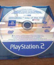 SHINOBIDO WAY OF THE NINJA - PLAYSTATION 2 PS2 -SOLO DISCO -BUONO STATO