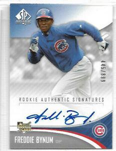 2006 SP Authentic - Base Autograph #218 Freddie Bynum #445/899 - Chicago Cubs