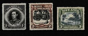 Niue:1938:Niue Cook Island.Set.Mint
