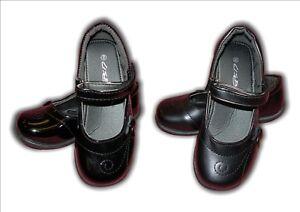 Girls School Shoes Infant Black or Black Patent Vel US Brass BRITNEY sizes 4-12