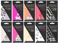 ELEGANT TOUCH Envy Wraps Self Adhesive Nail Wraps - Pack of 18 *CHOOSE DESIGN*