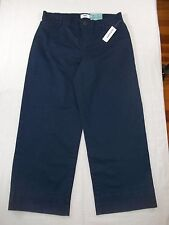 Old Navy Women's Wide Leg Ankle Pants Size 2 Navy Blue Mid-Rise New with Tags