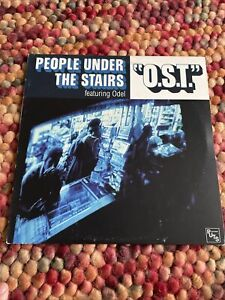 """People Under The Stairs – O.S.T. 12"""" Vinyl US OM-109sv 2002"""