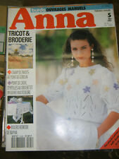Anna - Burda Ouvrages Manuels N°5 1991 Patron Tricot Broderie Point de gobelin