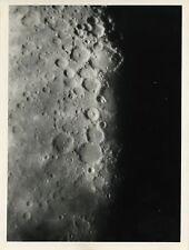 PHOTO VINTAGE : LUNE ALPHONSUS, ARZACHEL & PTOLEMAUS tirage argentique MOON 1973