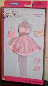 Barbie Supper Club Fashion Avenue Outfit Accessories Charm Styles 2000 Mattel