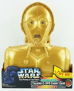 Star Wars POTF C-3PO Electronic Talking Carry Case for Figures & Accessories