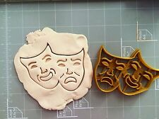 Comedy/Tragedy Masks Cookie Cutter