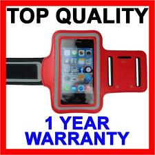 RED Sports Gym Running Exercise Cover Armband for Apple iPhone SE 5S 5C 5 4S 4 3