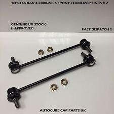 TOYOTA RAV4 2000-2006 2 X FRONT STABILIZER ANTI ROLL BAR LINKS (FITS RAV4 MK2)