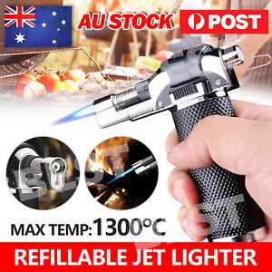 Outdoor Windproof Refillable Butane Gas Baking Flame Welding Torch Jet Lighter