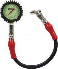 """Tire Air Pressure Gauge Glow in the Dark 0-15 psi 2-1/4"""" Diameter Dirt Modified"""
