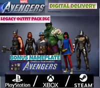 Marvel's Avengers DLC Legacy Outfit Pack+ Nameplate Pre-Order Bonus PS4/XBOX/PC