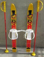 Kinderski Babyski Lernski 70cm für Kinder in Fabe gelb Clown