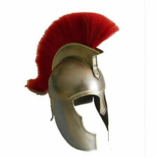 Brown Achilles Trojan Troy Troy Greek Medieval Helmet Armor With Red Plume Sca