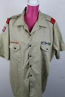 BSA Official Khaki Boy Scout Uniform Shirt Men's XL Short Sleeve