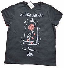 PRIMARK LADIES WOMENS DISNEY BEAUTY & THE BEAST OFFICIAL BLACK T SHIRT BNWT 20