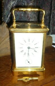 L'Epee Striking Repeater Alarm Carriage Clock In Very Good Order + Fully Working