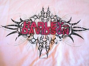 NWT Harley Davidson Youth T Shirts ~Pink Tribal Size XL or Yellow Rainbow Size S