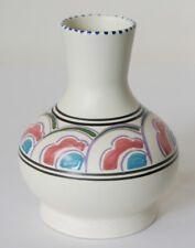 "Vtg c1950s Honiton Pottery bud vase Eastern Scroll, Bitton shape 4"" 10.3cm"